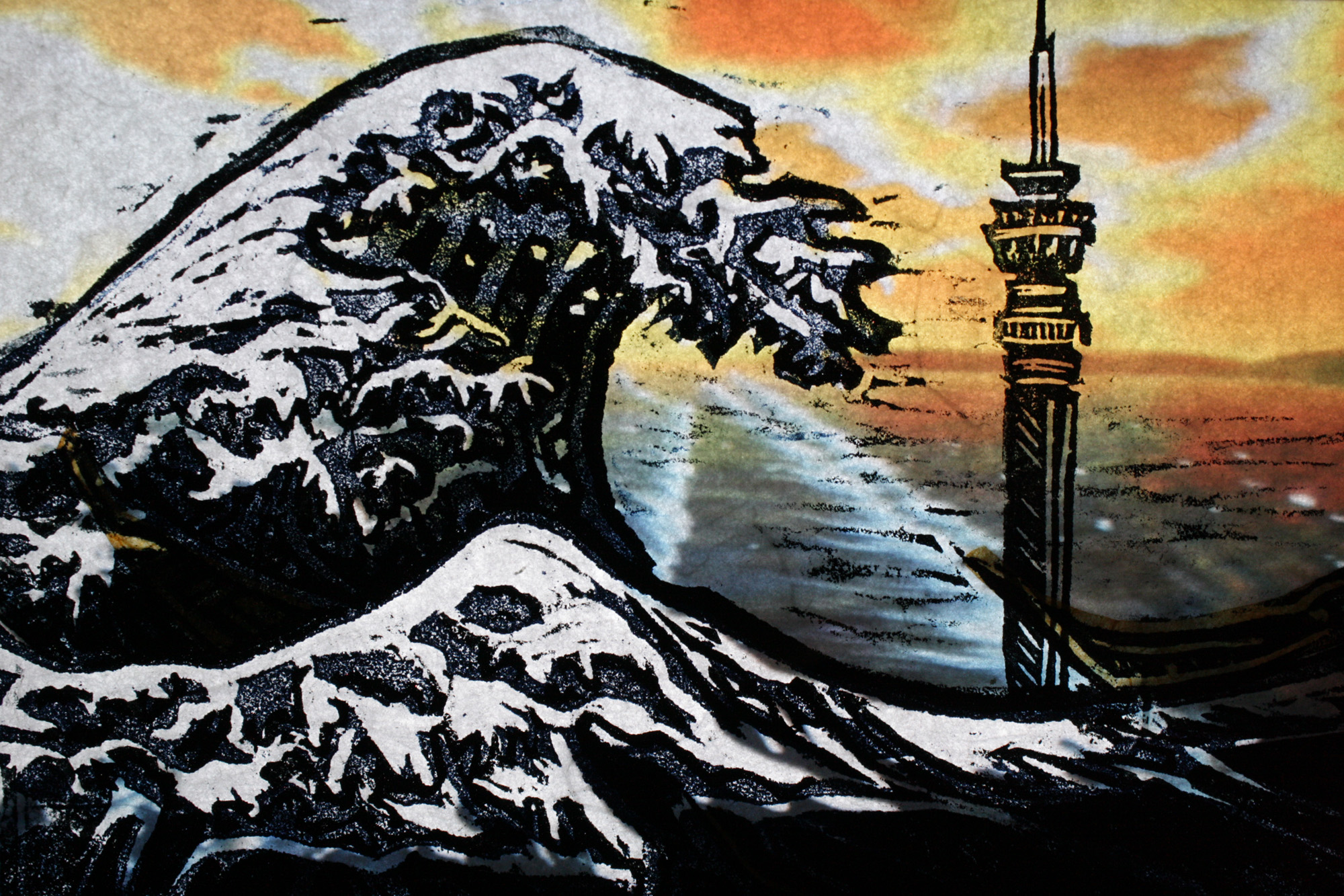The Great Wave (detail)