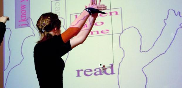 stuttering, interactive installation