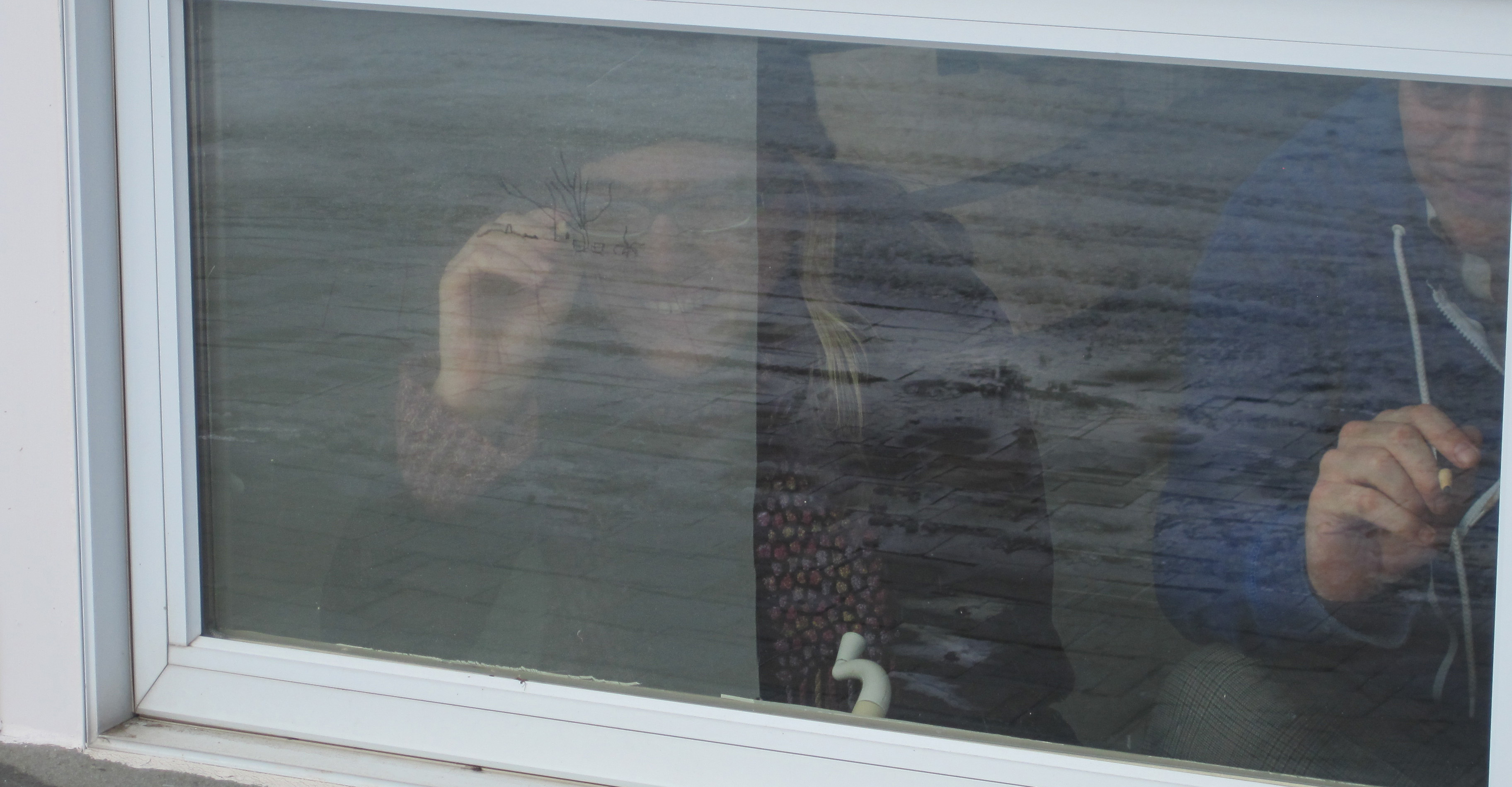 surfacing, people drawing lower window
