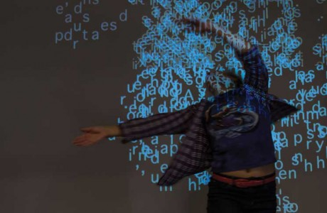 Body Language is a suite of four interactive installations that explore the complex relationships between bodies and/with language.