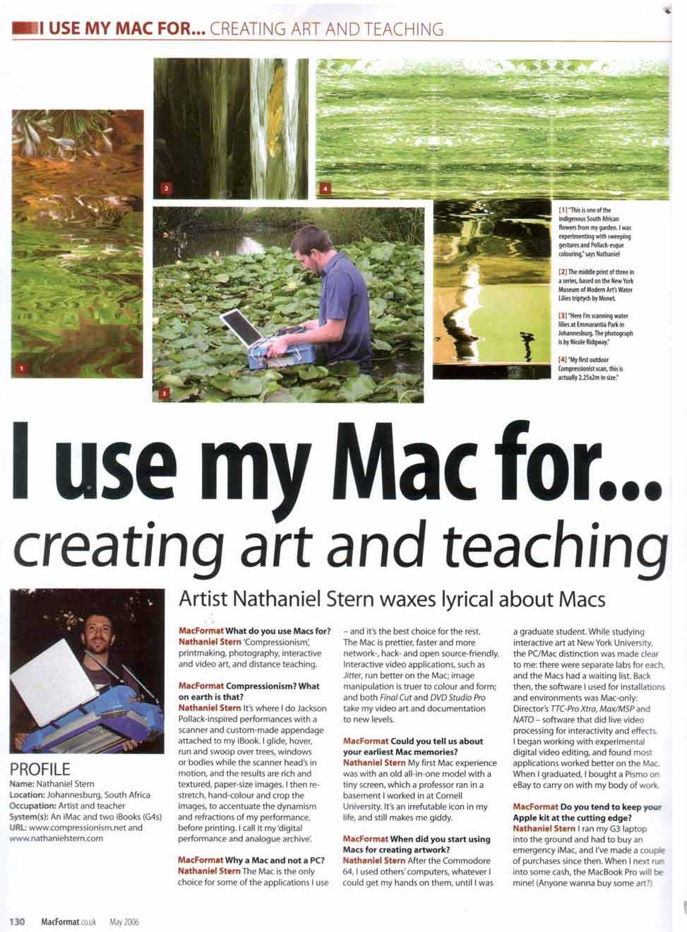 MacFormat Magazine – nathaniel stern