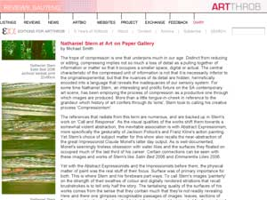 nathaniel stern: ArtThrob Art on Paper Review
